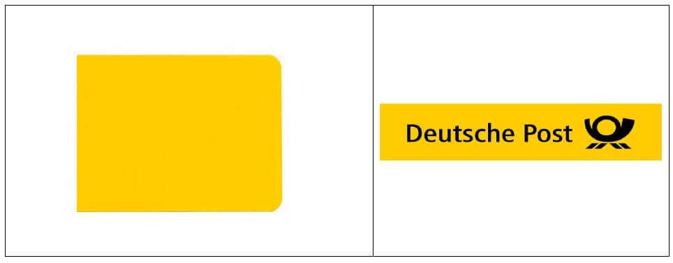 Kolor jako znak towarowy - Deutsche Post - DE-30470261