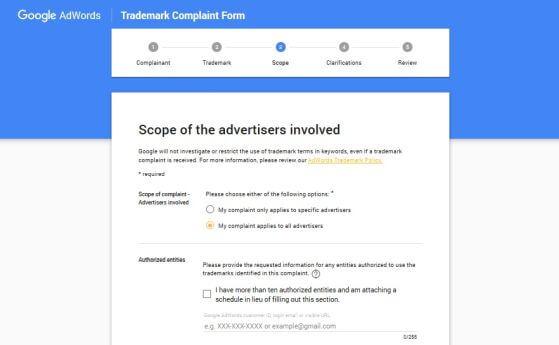 Jak zablokować swój znak towarowy wreklamach tekstowych AdWords?