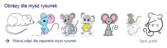 Przykłady grafik przedstawiających myszy