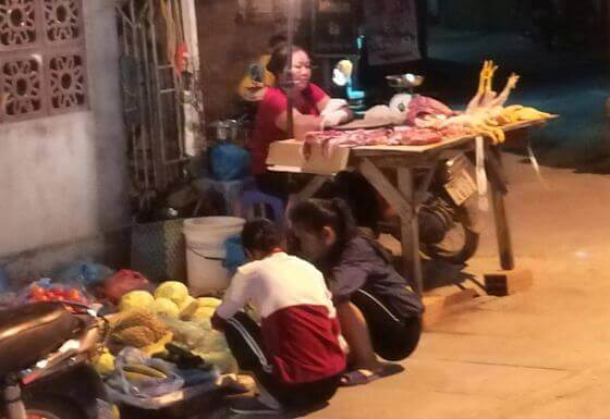 Wietnam - street food.